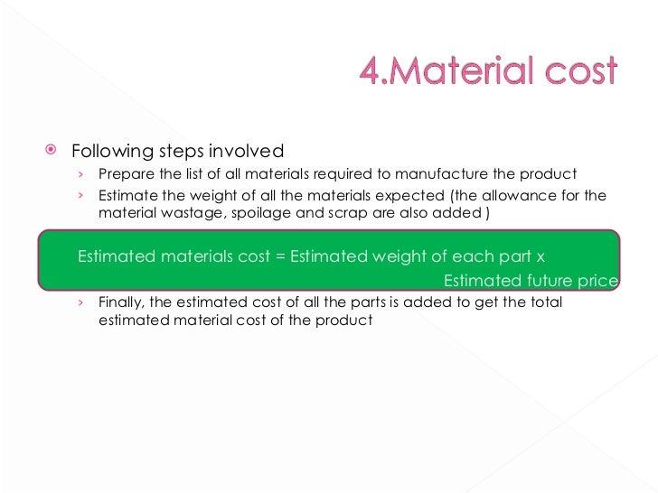 <ul><li>Following steps involved </li></ul><ul><ul><li>Prepare the list of all materials required to manufacture the produ...