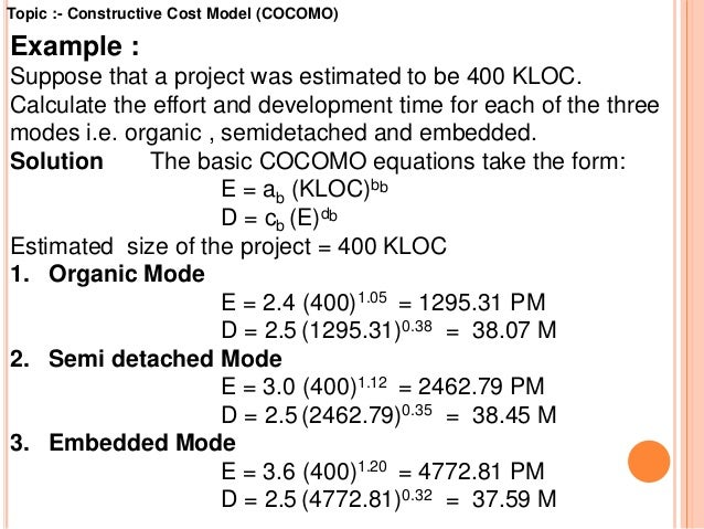 Cost estimation using cocomo model.
