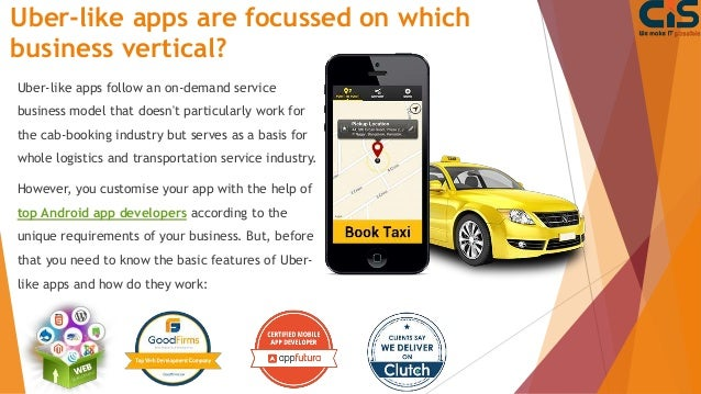 Cost & Feature to Develop A Taxi App Like Uber