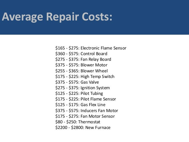 Cost of furnace repair replacement in santa rosa how much for Hvac motor replacement cost