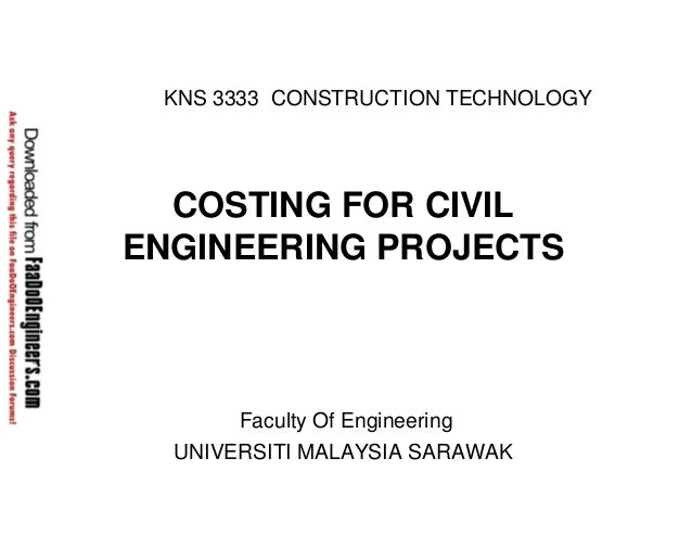 Costing for-civil-engineering-project