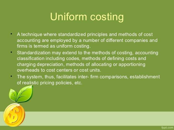 Uniform accounting standards produce uniform financial