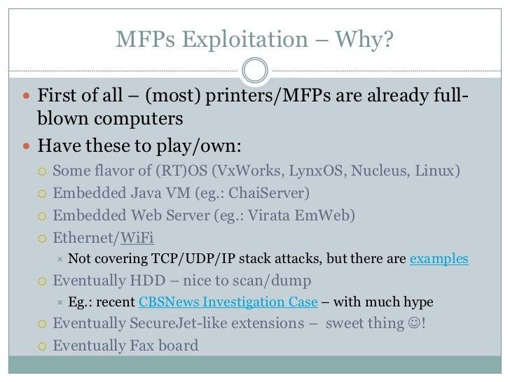 hashdays 2011: Andrei Costin - Hacking Printers: 10 years of