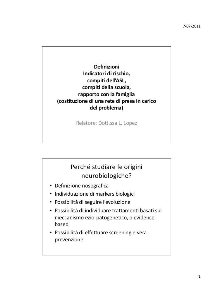 7-‐07-‐2011                         Definizioni                 Indicatori di rischio,                    com...