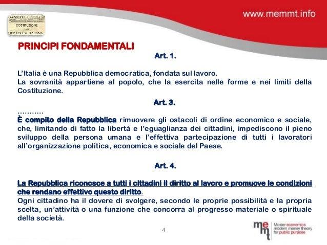 Costituzione italiana ed eurozona incompatibilit dei for Struttura politica italiana