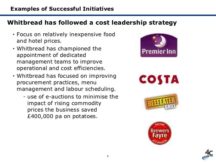 the cost leadership strategy The correlation between the cost leadership strategy and the value chain is the parallel emphasis on low-cost production activities companies that want to use the low-cost strategy must figure out how to optimize costs in each element of the value chain a retailer, for instance, can use supply.