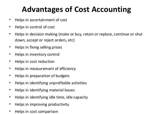 advantages of current cost accounting