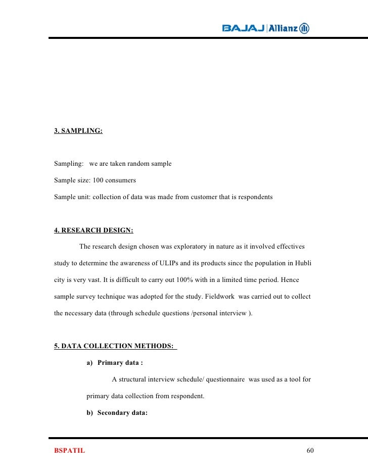 Costmer Awareness Project Report Bajaj Allianz