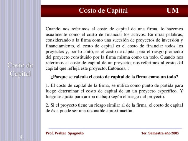 Cost of Capital Essay Sample