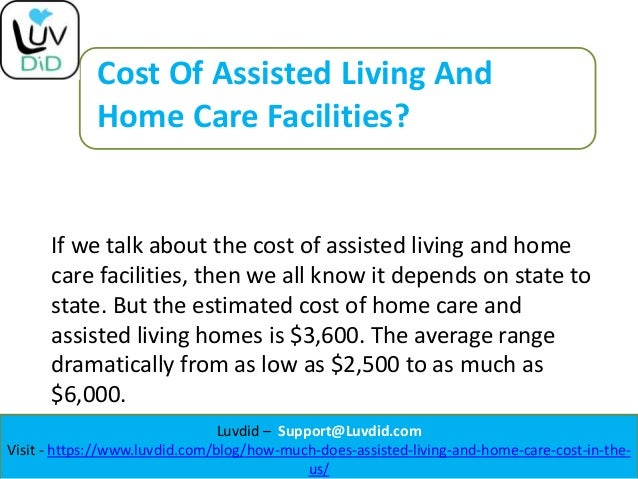 How Much Does Assisted Living And Home Care Cost