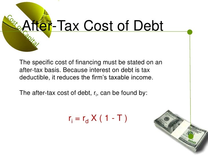 after tax cost of debt calculator