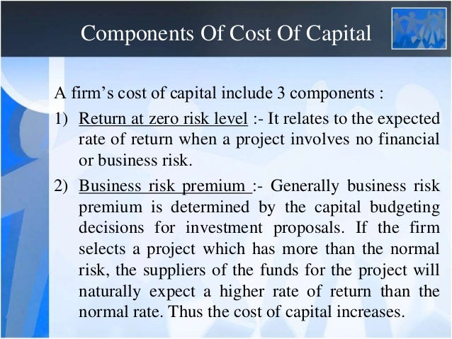 Introduction To Cost Of Capital