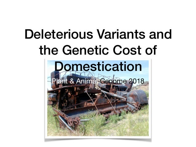 Deleterious Variants and the Genetic Cost of Domestication Plant & Animal Genome 2018
