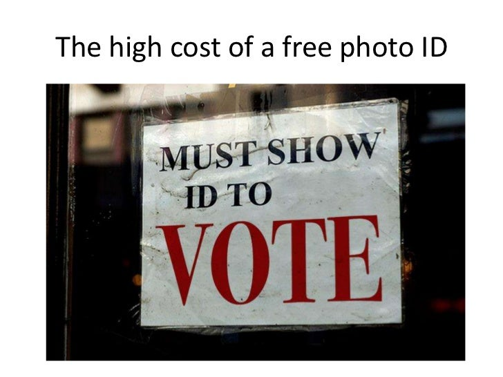 The high cost of a free photo ID