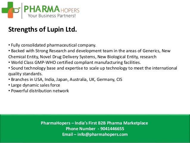 Cost of Lupin Pharma Franchise
