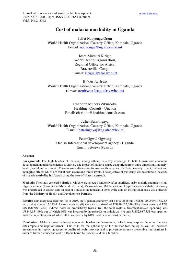 Journal of Economics and Sustainable Development                                                www.iiste.orgISSN 2222-170...