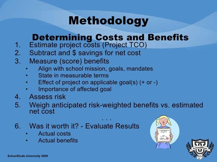 evaluate the costs and benefits to