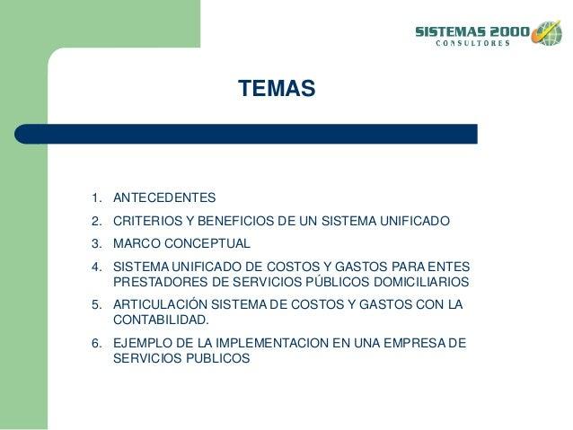 Sistemas de costos y gastos por actividades Slide 2