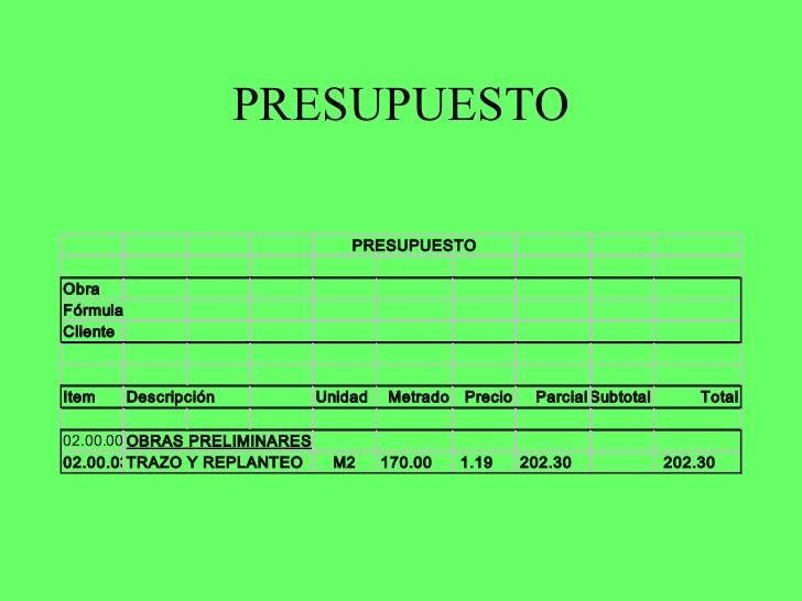 Como hacer presupuesto de obra latest imb pintores with - Como hacer presupuesto de obra ...