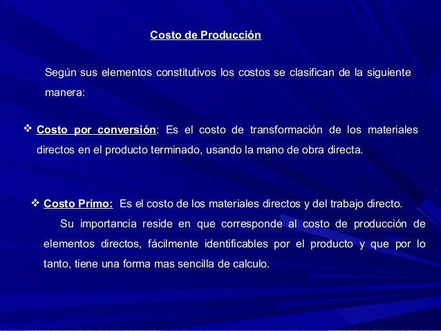 Costos de produccion Slide 2