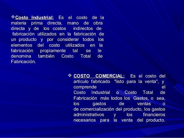 Costos de produccion Slide 3