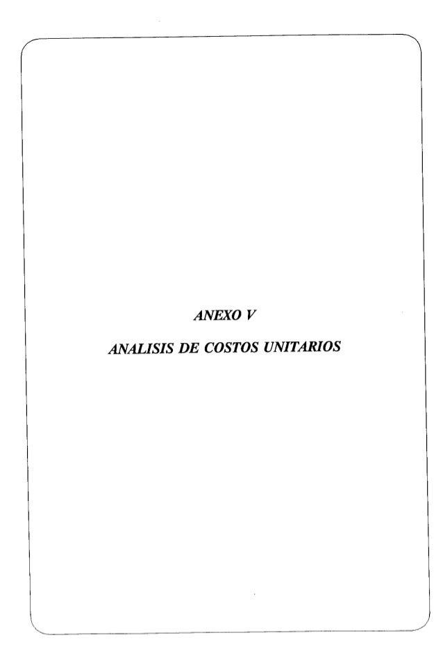 """RELACION DE CUADROS ANALISIS DE C0SM)S tTNiTARIOS DE LAS OBRAS CMLES Cuadro N"""" Cuadro N"""" Cuadro N"""" Cuadro N"""" Cuadro N"""" Cuu..."""