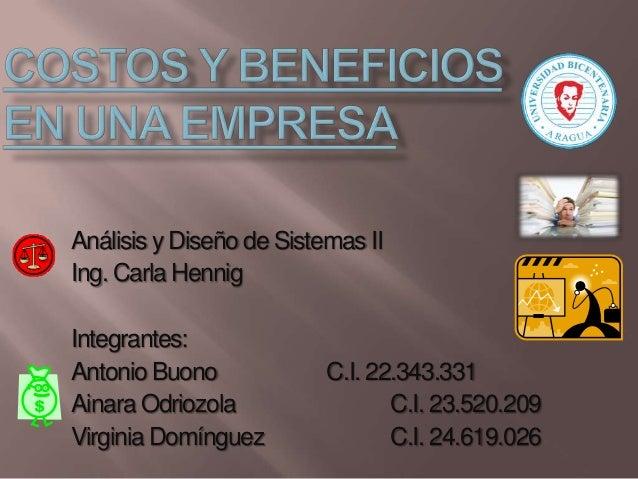 Análisis y Diseño de Sistemas II Ing. Carla Hennig Integrantes: Antonio Buono Ainara Odriozola Virginia Domínguez  C.I. 22...