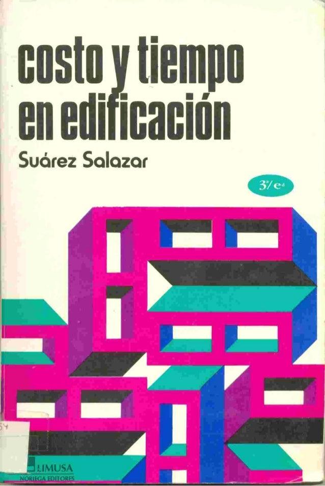 libro costo y tiempo en edificacion suarez salazar pdf