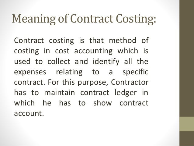 contract costing Pricing matters - cost proposals for government contracts by ronald marta, university of houston ptac cost proposal preparation for a government contract can be divided into three stages: pre-proposal, proposal, and post-proposal.