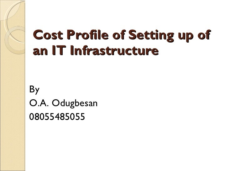 Cost Profile of Setting up of an IT Infrastructure <ul><li>By </li></ul><ul><li>O.A. Odugbesan </li></ul><ul><li>080554850...