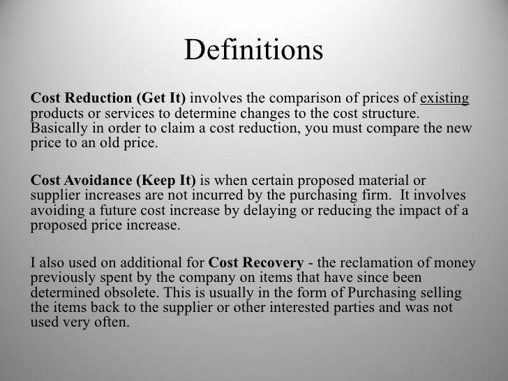 avoidance cost method