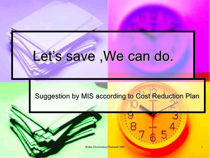 Cost reduction plan for Country plans com