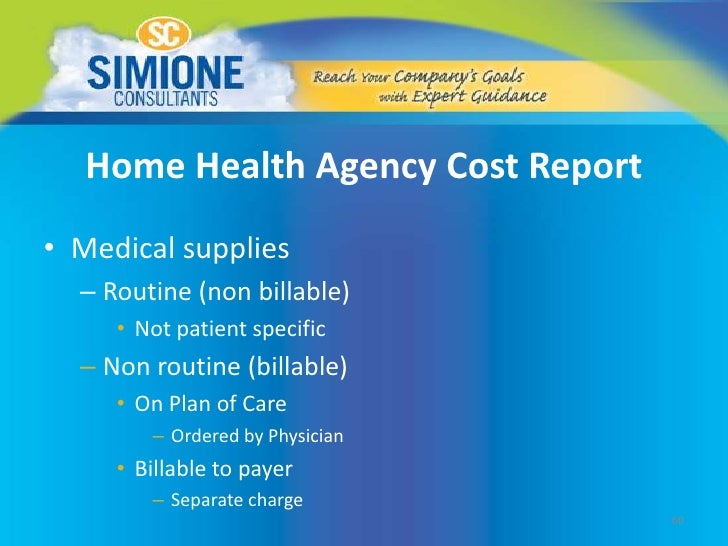 routine cost report
