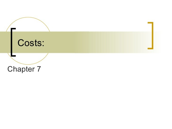 Costs: Chapter 7