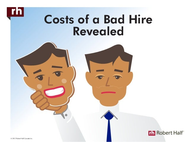 Costs of a Bad Hire Revealed © 2017 Robert Half Canada Inc.