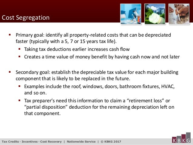 Cost Segregation And Tangible Property Repair Regulations