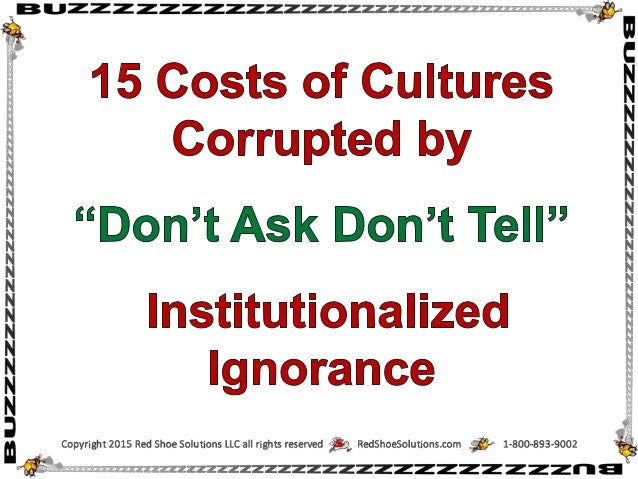 Costs of cultures corrupted