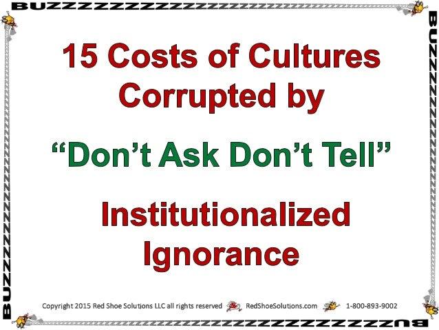 """i B l. .IZZ Z zzzZZZZ2ZZZZZZZZZzzzzz2e;21:2:r<:  . 3;   15 Costs of Cultures Corrupted by  """"Don't Ask Don't Tell""""  Institu..."""