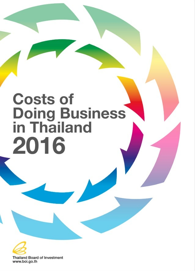 Costs of Doing Business in Thailand 2016 2 TABLE OF CONTENTS  Page TYPICAL COSTS OF STARTING AND OPERATING A BUSINESS 4...
