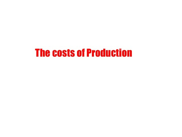 The costs of Production What does supply curve represent? How does a firm take its supply decisions?