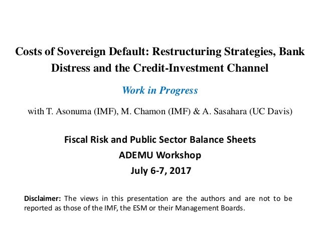 Costs of Sovereign Default: Restructuring Strategies, Bank Distress and the Credit-Investment Channel Work in Progress wit...