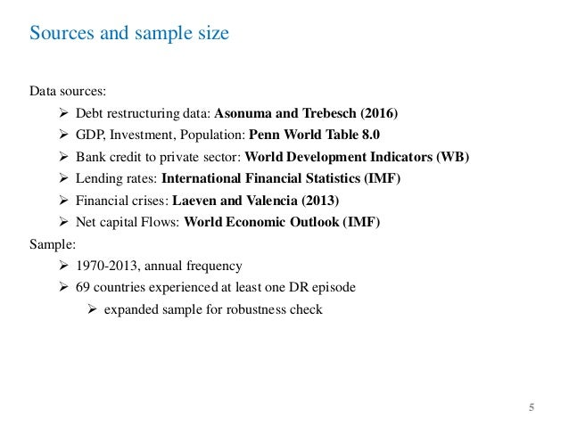 Costs of sovereign default data 4 5 sources and sample size data sources debt restructuring platinumwayz