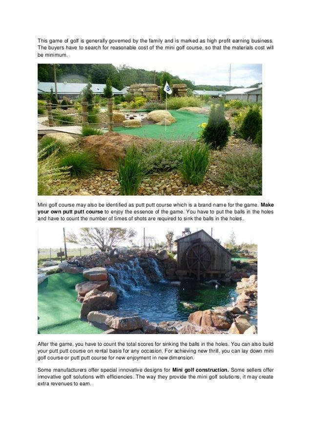 miniature golf course builders | mini golf course ideas | mini golf on
