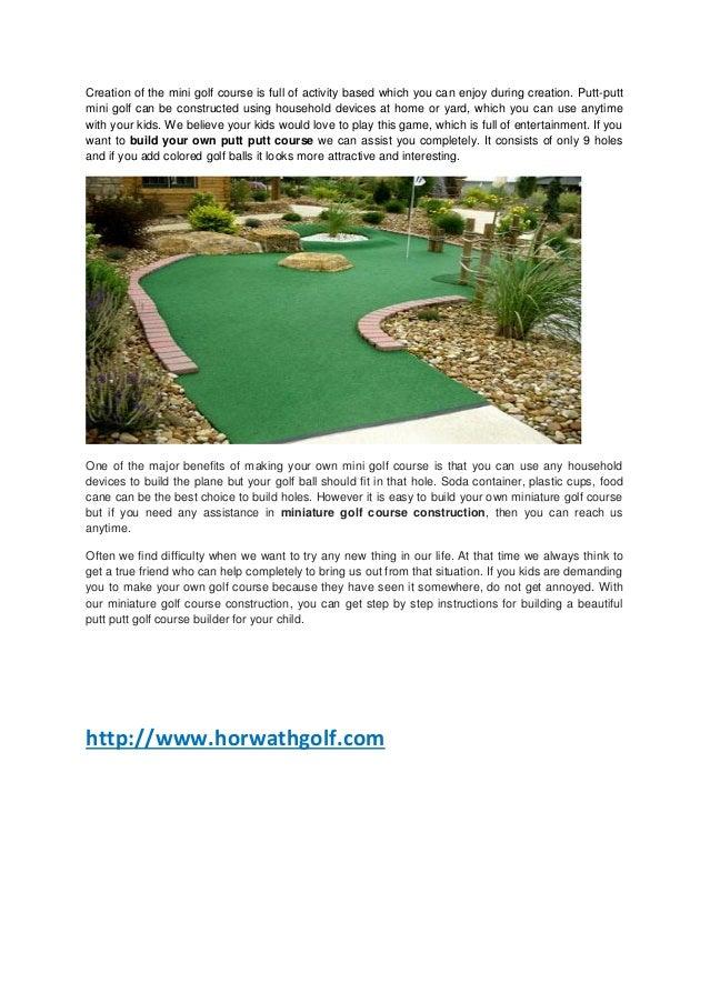 Miniature Golf Course Builders Mini Golf Course Ideas Mini Golf D