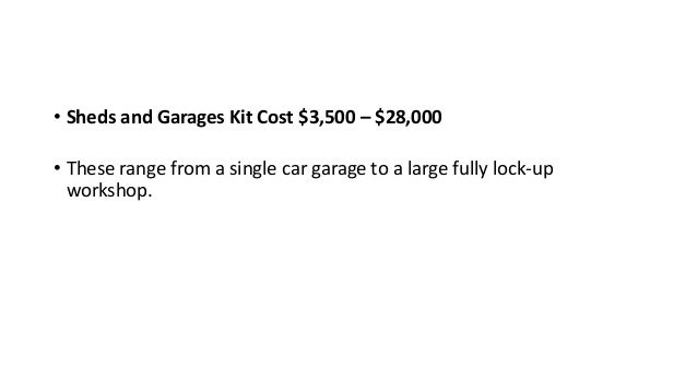 ... 3. U2022 Sheds And Garages Kit Cost ...