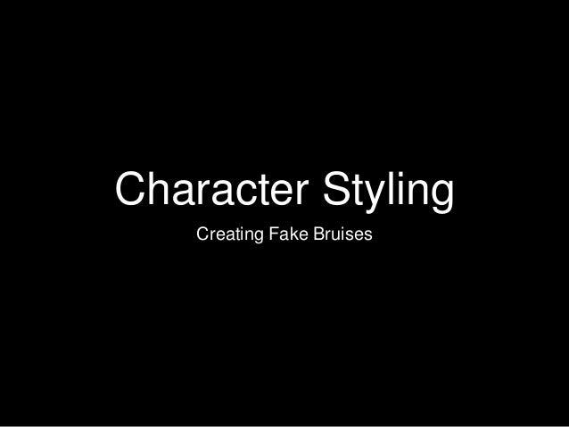 Character Styling Creating Fake Bruises