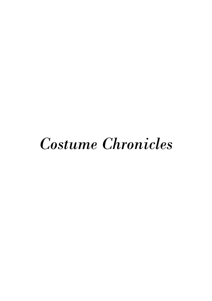 Costume Chronicles