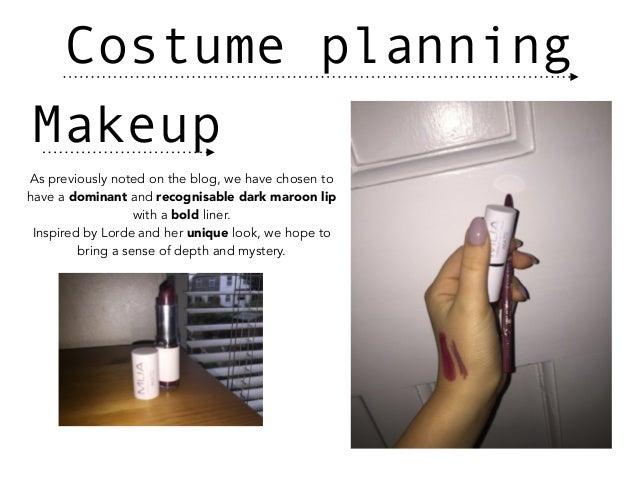Costume planning Slide 3