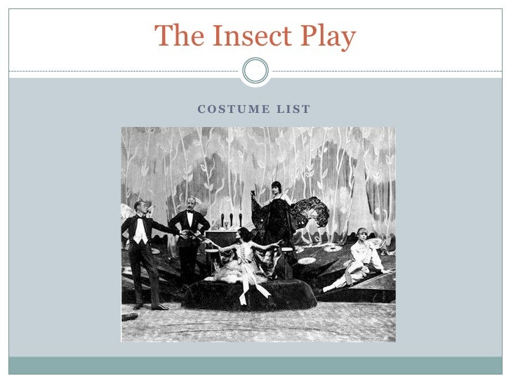 The Insect Play     COSTUME LIST