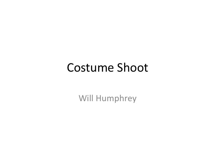 Costume Shoot Will Humphrey